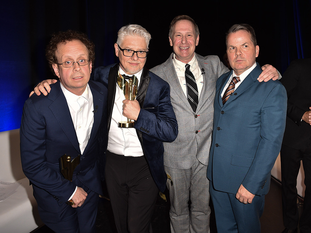 'Kids in the Hall' cast Kevin McDonald, Dave Foley, Scott Thompson and Bruce McCulloch attend the 2019 Canadian Screen Awards Broadcast Gala held at Sony Centre for the Performing Arts on March 31, 2019 in Toronto.