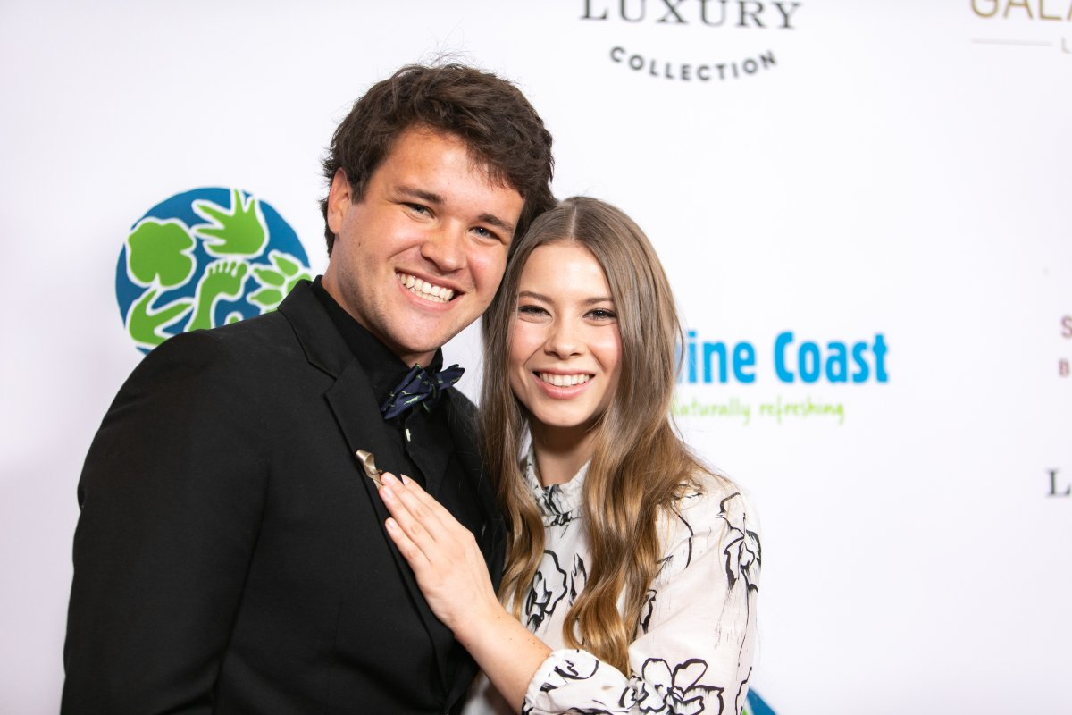 Chandler Powell and Bindi Irwin attend the Steve Irwin Gala Dinner at SLS Hotel on May 04, 2019 in Beverly Hills, California.