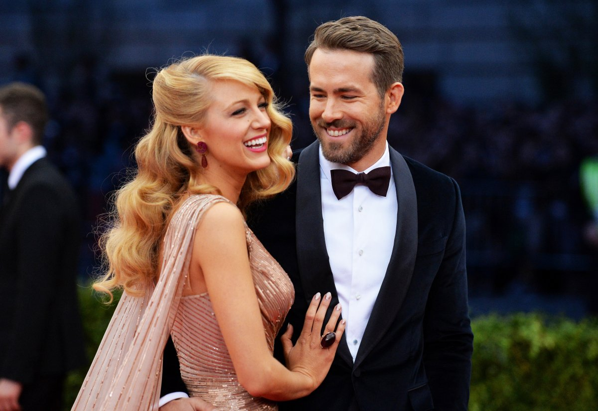 Actors Blake Lively and Ryan Reynolds attend the Charles James: Beyond Fashion Costume Institute Gala at the Metropolitan Museum of Art on May 5, 2014 in New York City.