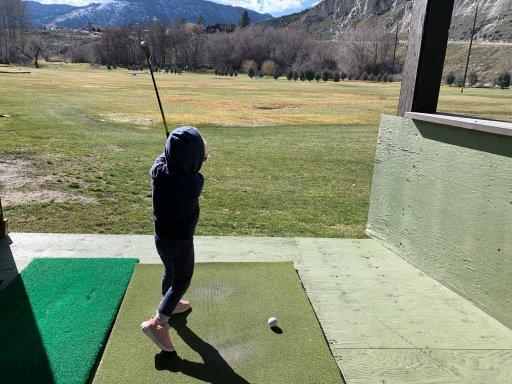 Golf practice – Ken Barnes