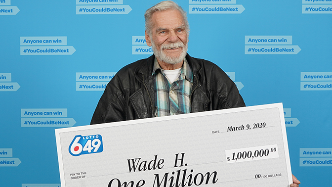 Wade Hardie won Saturday's guaranteed prize of $1 million in Saturday's Lotto 6/49 draw.