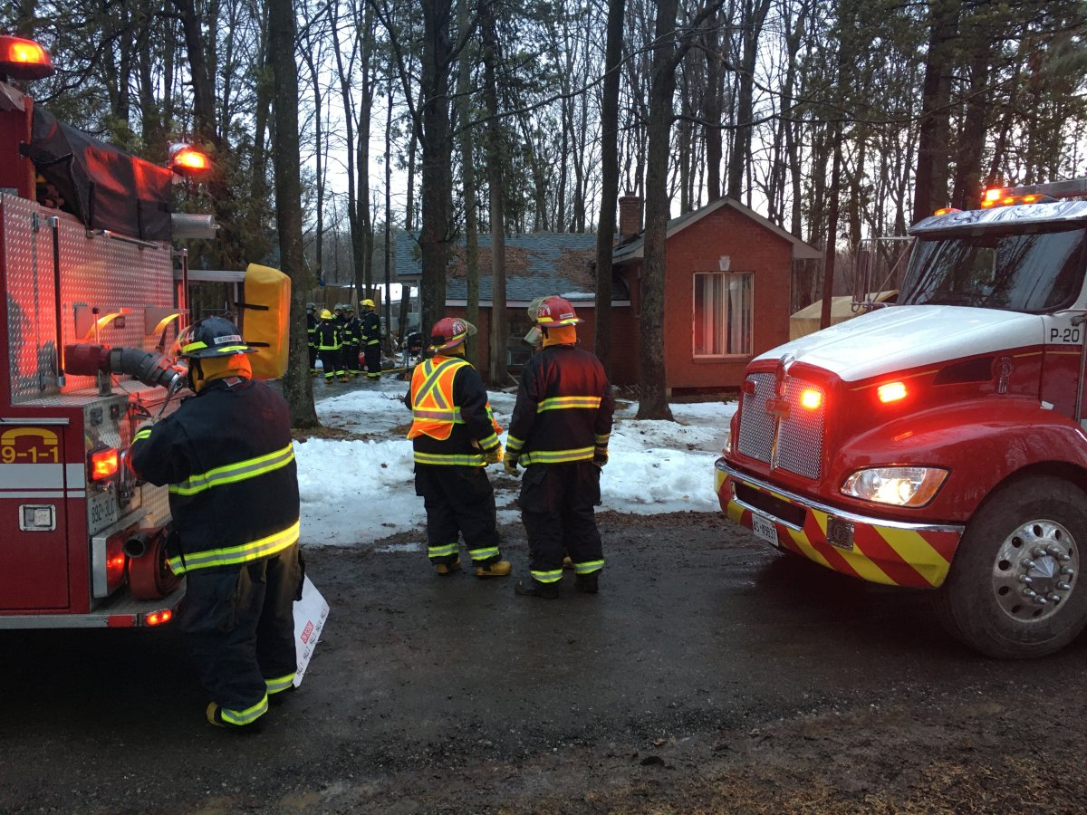 Firefighters responded to a house fire in Curve Lake First Nation on Friday morning.