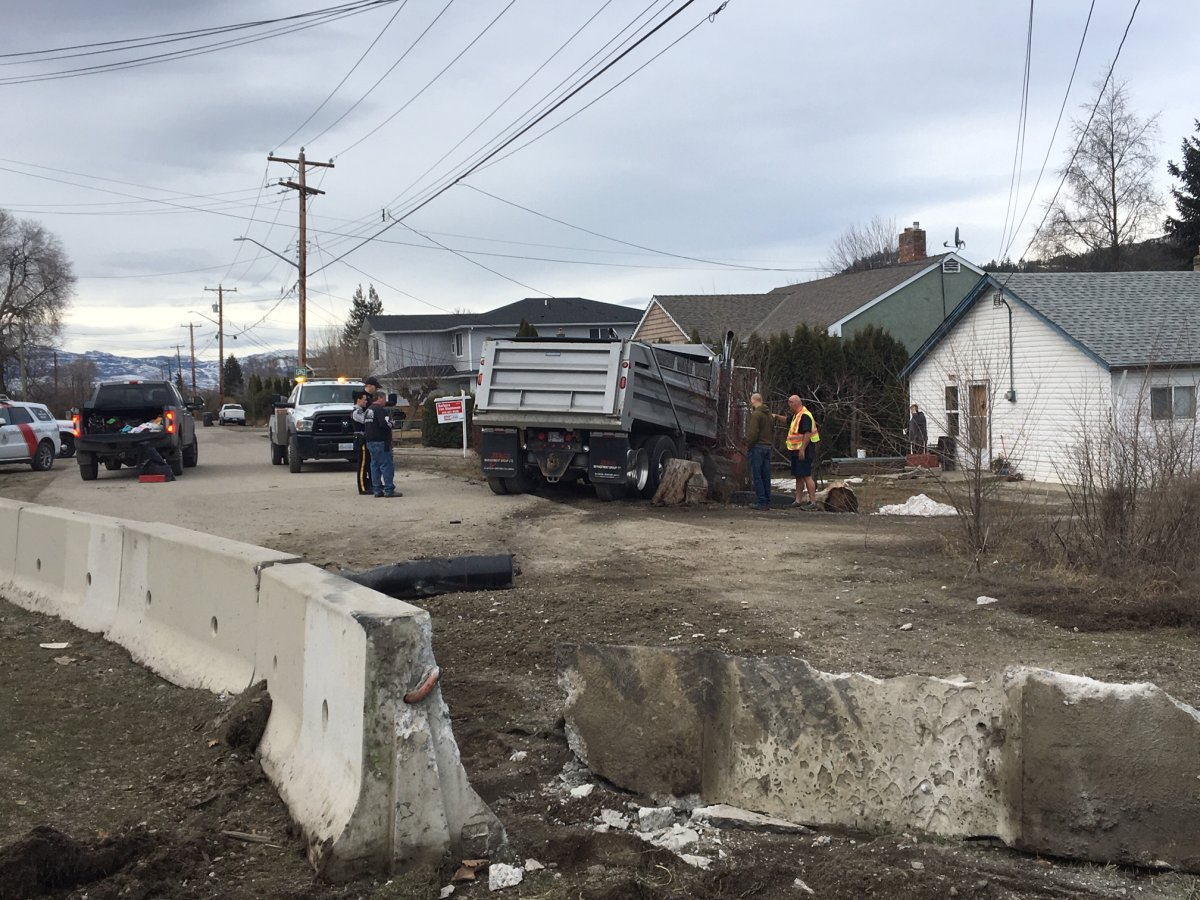 Witnesses told police that the dump truck operator failed to negotiate a turn, and subsequently collided with the barrier.