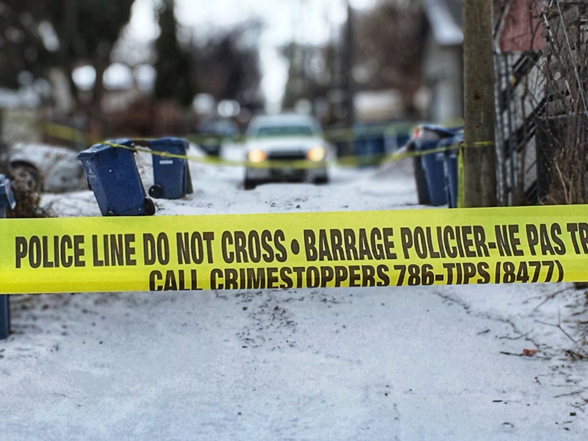 Police tape at a crime scene in Winnipeg.