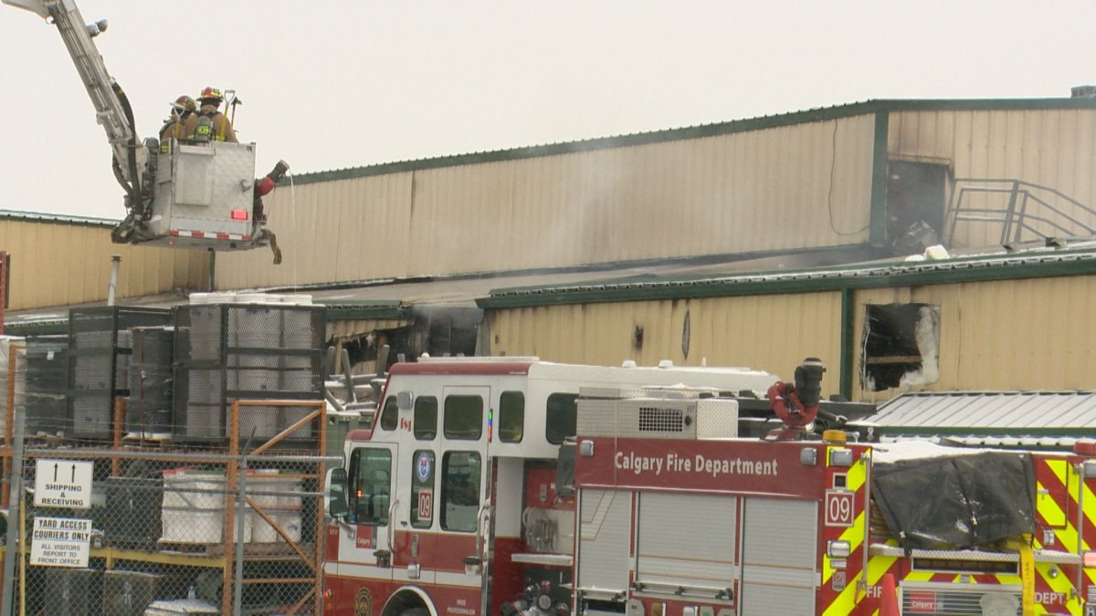 The Calgary Fire Department was called to the metal fabrication warehouse in the 3300 block of 58 Avenue S.E. early on Saturday, March 7, 2020.