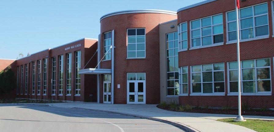 Medway High School on Medway Road in Arva, Ont.
