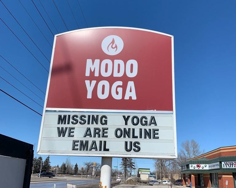 Yoga studios are closed during the COVID-19 pandemic.