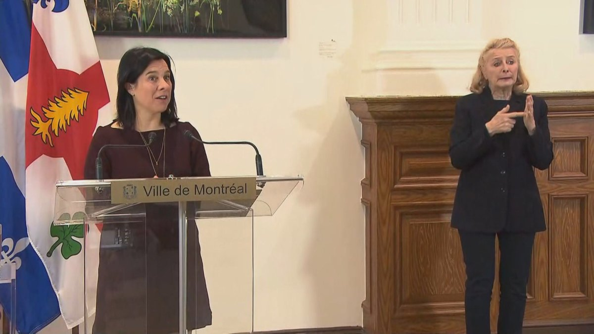 Montreal Mayor Valérie Plante announces financial contribution towards Centraide's emergency fund. Tuesday March 24, 2020.
