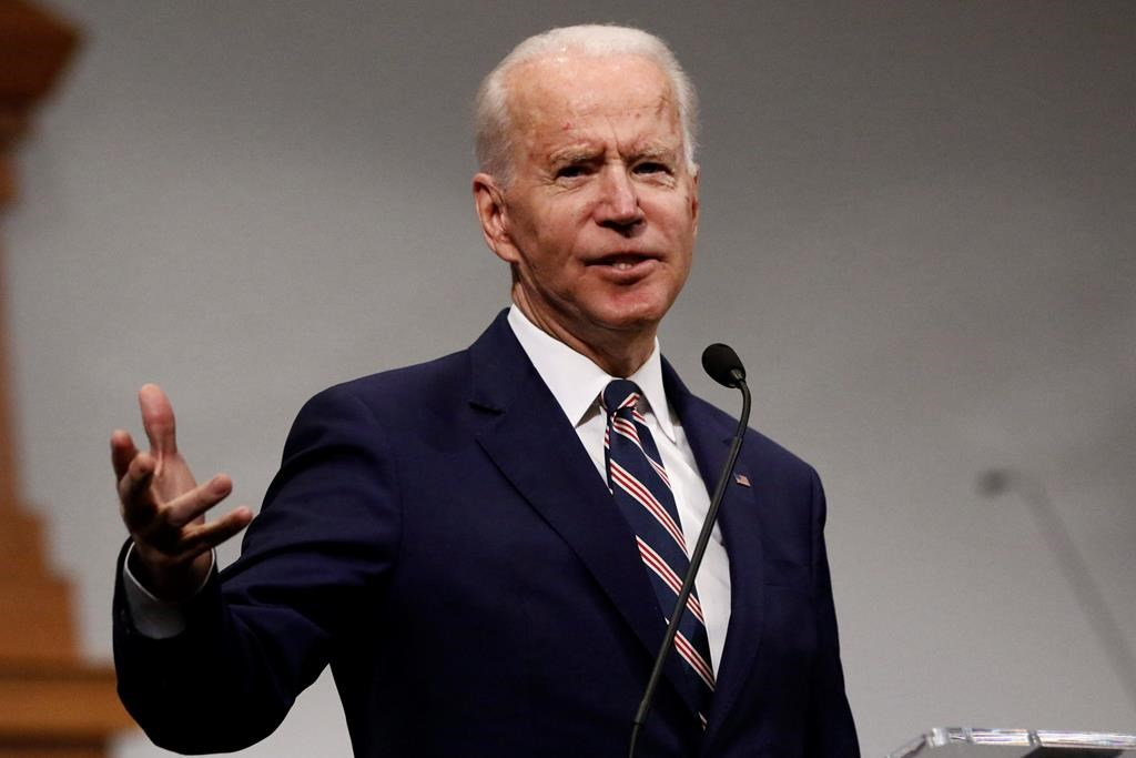 Democratic presidential candidate and former Vice President Joe Biden speaks at New Hope Baptist Church, Sunday, March 8, 2020, in Jackson, Miss.