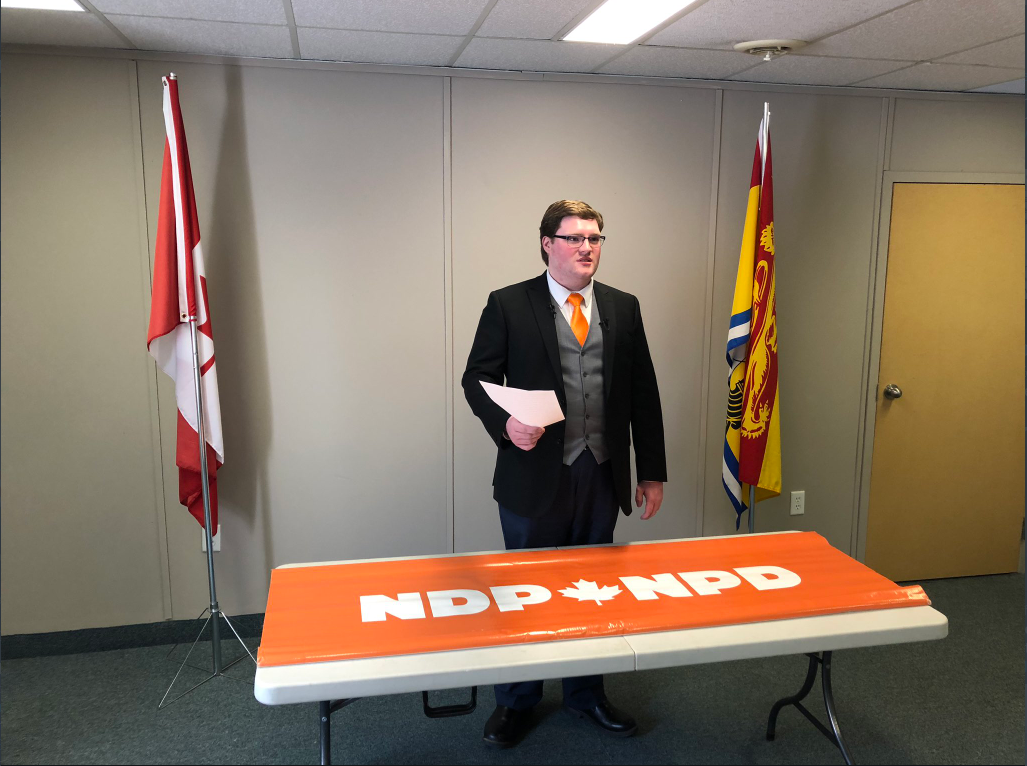 Interim leader of the NB NDP MacKenzie Thomason.