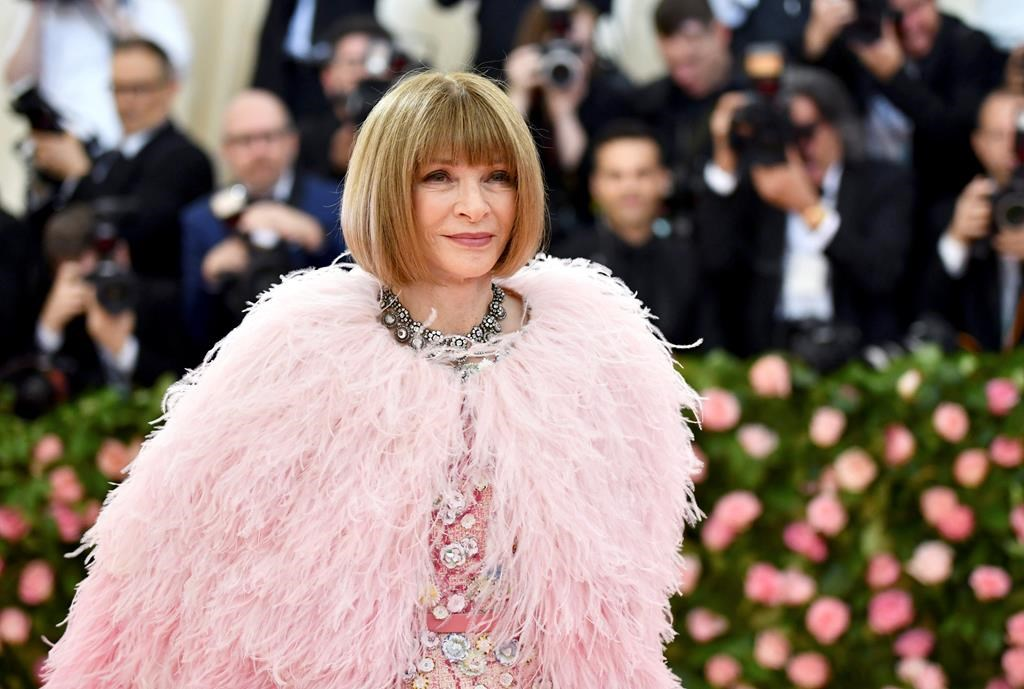 In this May 6, 2019 file photo, Vogue editor Anna Wintour attends The Metropolitan Museum of Art's Costume Institute benefit gala celebrating the opening of the 'Camp: Notes on Fashion' exhibition in New York.