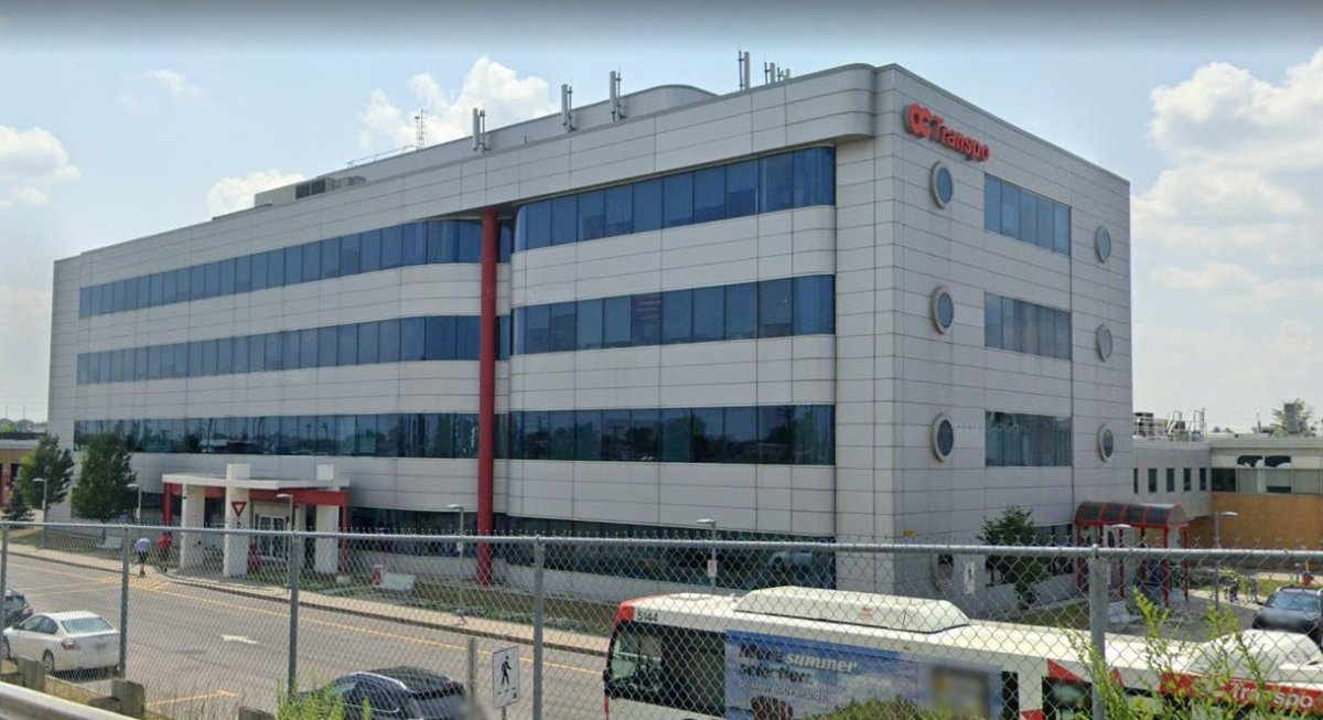 OC Transpo's head office is located at 1500 St-Laurent Boul., east of downtown Ottawa. The transit agency said March 5, 2020 that bedbugs were found in this building and in one more of its nearby buildings and it had staff clear out of both buildings for pest treatment.