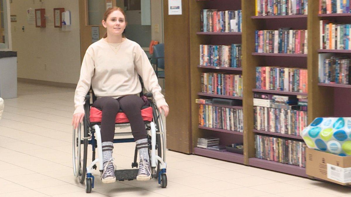 Image of Nicole Palladino at the Glenrose Rehabilitation Hospital.