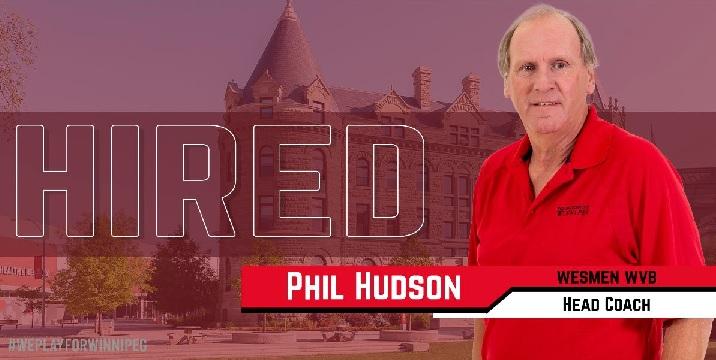 Winnipeg Wesmen women's volleyball head coach Phil Hudson.