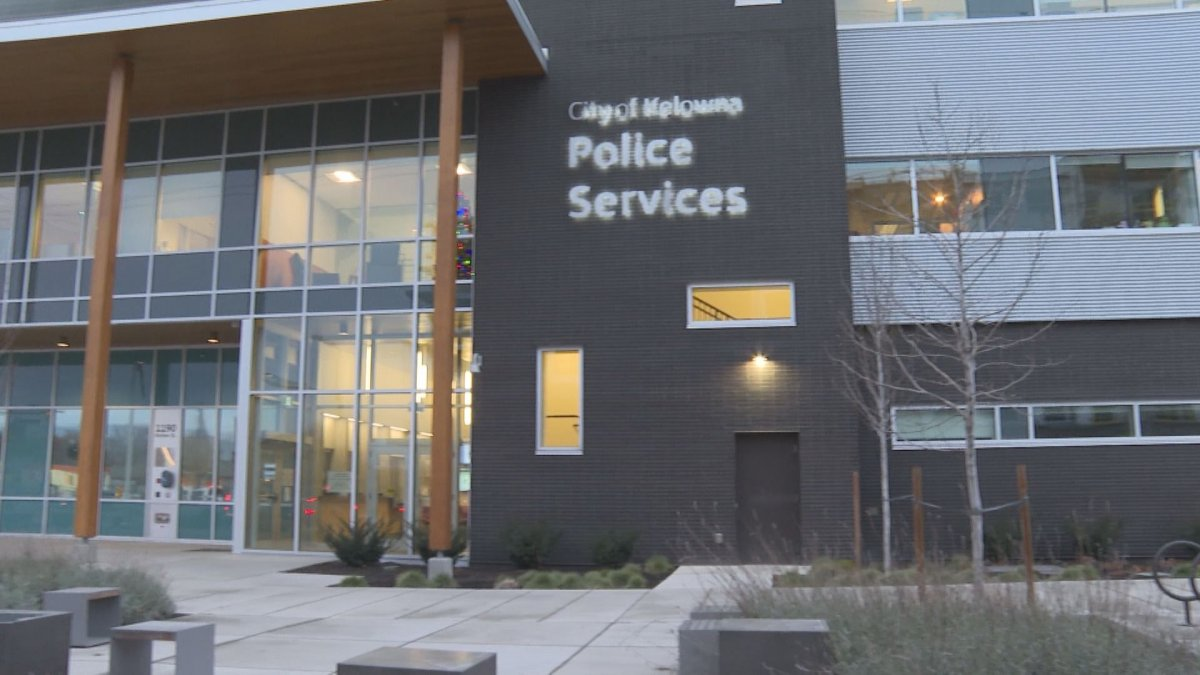 Kelowna RCMP say an officer arrested a woman after she was found in a reportedly stolen vehicle.