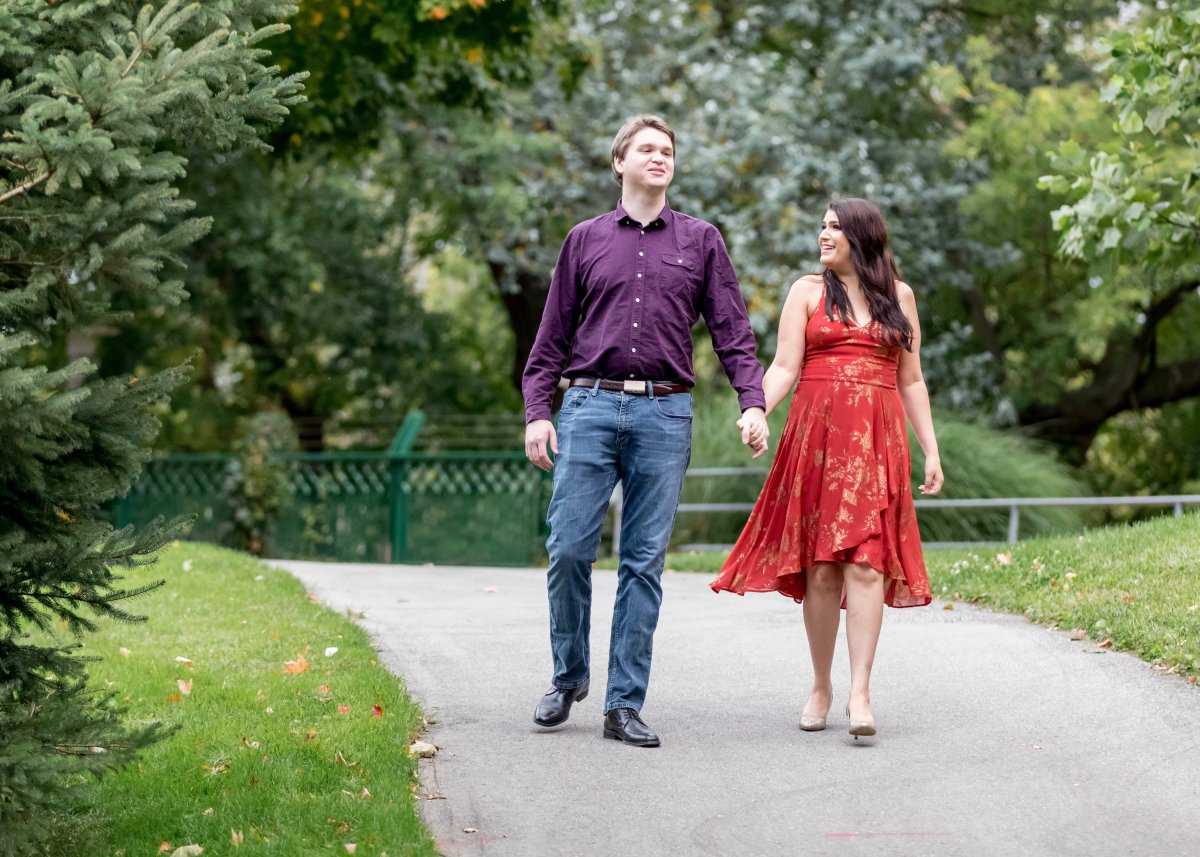 Sophia Eidsath and her fiancé Andrew Kinsella had to alter their wedding plans due to COVID-19.