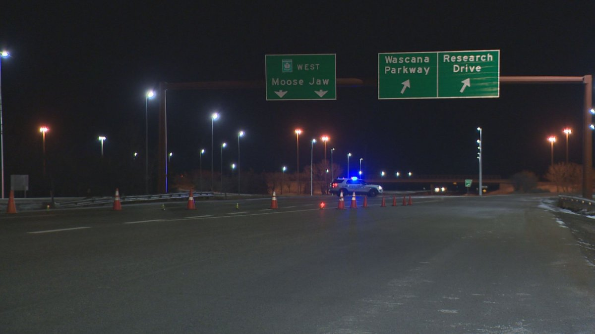 One person is dead and two others sustained serious injuries following a single-vehicle collision on Ring Road in Regina on Monday morning.