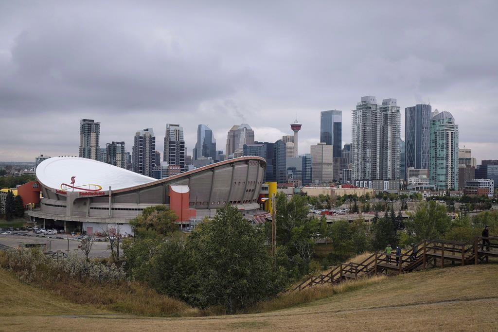 The Calgary skyline is seen on Friday, Sept. 15, 2017. The city of Calgary is taking direct action to prevent the spread of coronavirus with Calgary's homeless including reducing the number at shelters and housing some in hotels.