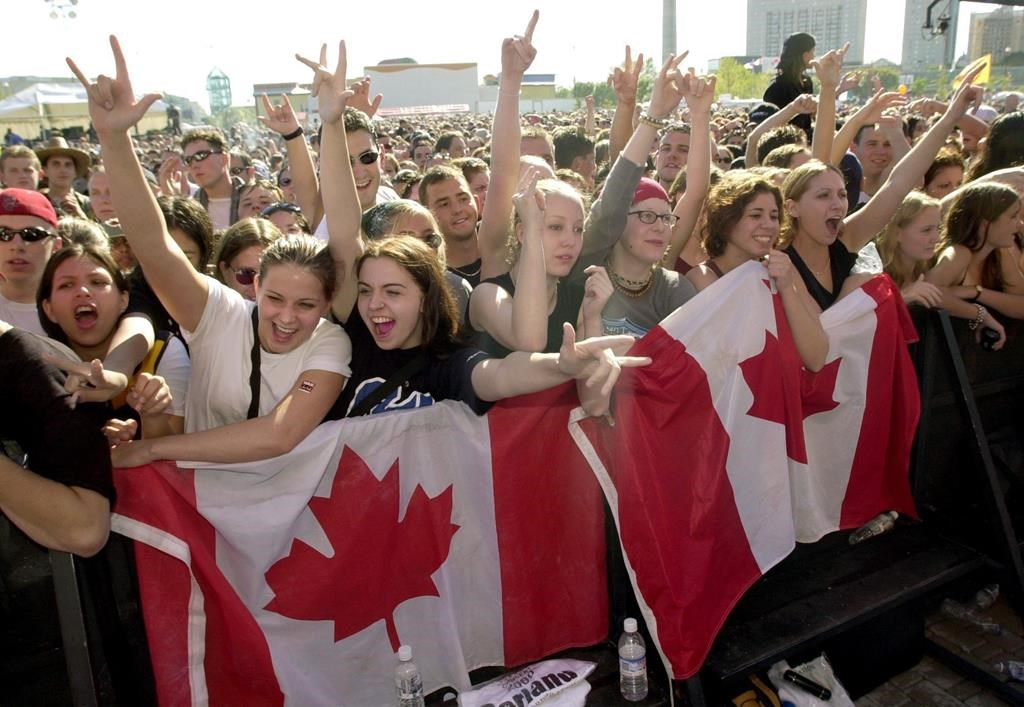 Fans attend a War Child Canada benefit concert held at the Forks in Winnipeg on Saturday Sept.16, 2000. Canada's charities say the layoffs have started and services, which are usually in high demand during economic downturns, are being shut down as the sector feels the financial sting from COVID-19. THE CANADIAN PRESS/Fred Greenslade.