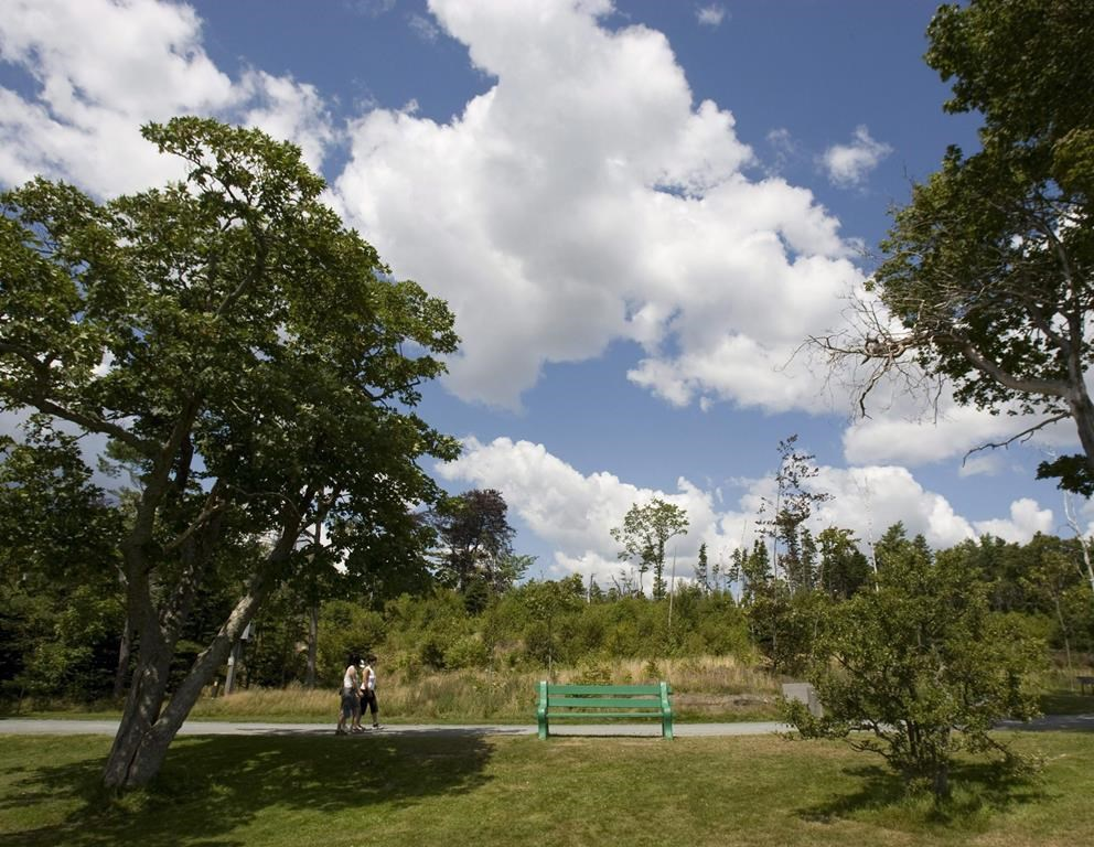 Visitors stroll through Point Pleasant Park in Halifax on Friday, Aug. 13, 2010.