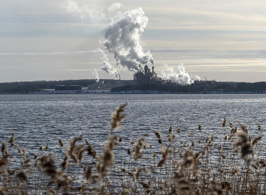 The Northern Pulp mill in Abercrombie Point, N.S., is viewed from Pictou, N.S., December 13, 2019. The Supreme Court of Canada has dismissed a leave to appeal by the province of Nova Scotia over whether it must consult with a Mi'kmaw community on how public money is provided to the Northern Pulp mill's effluent treatment plant.THE CANADIAN PRESS/Andrew Vaughan.