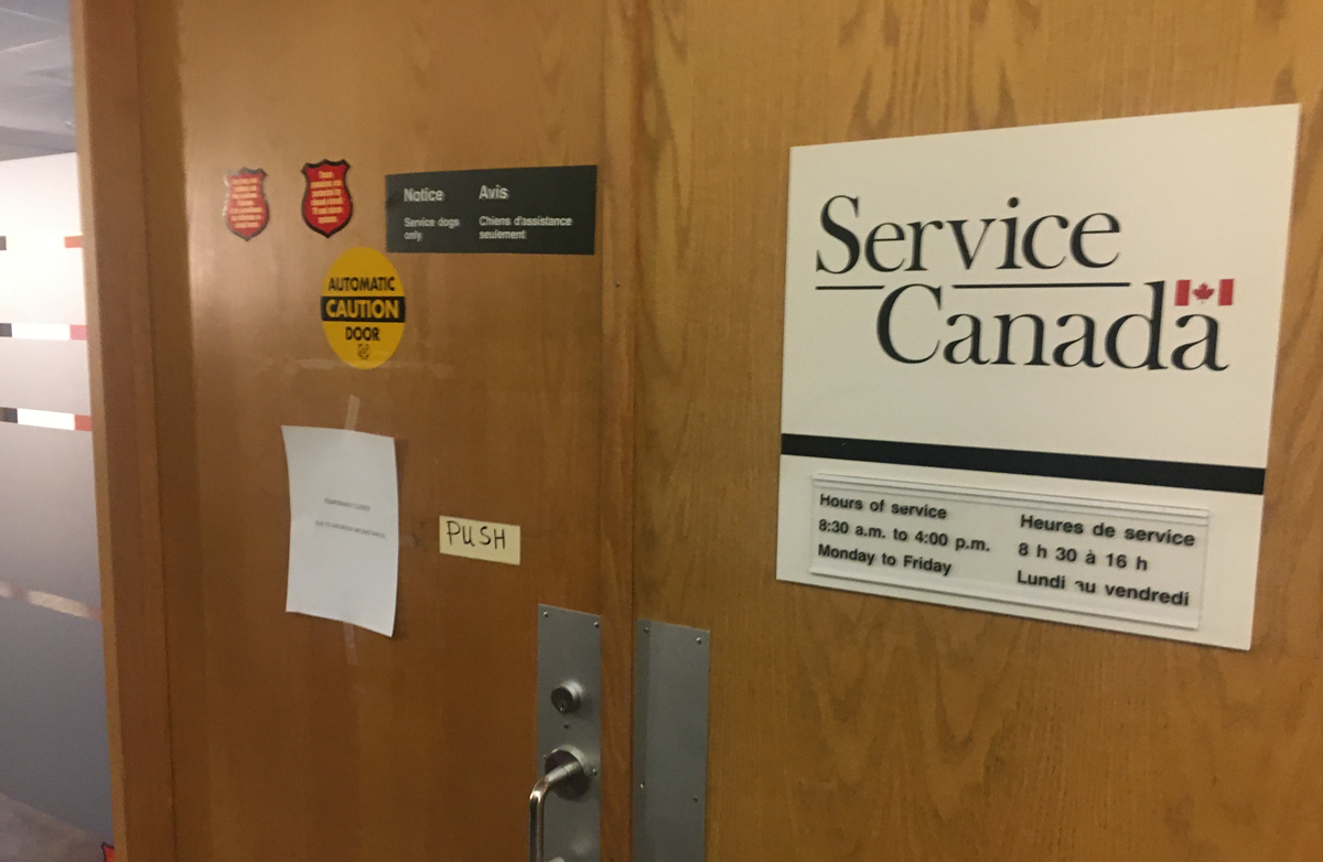 The Service Canada offices in Halifax and Dartmouth closed as a result.