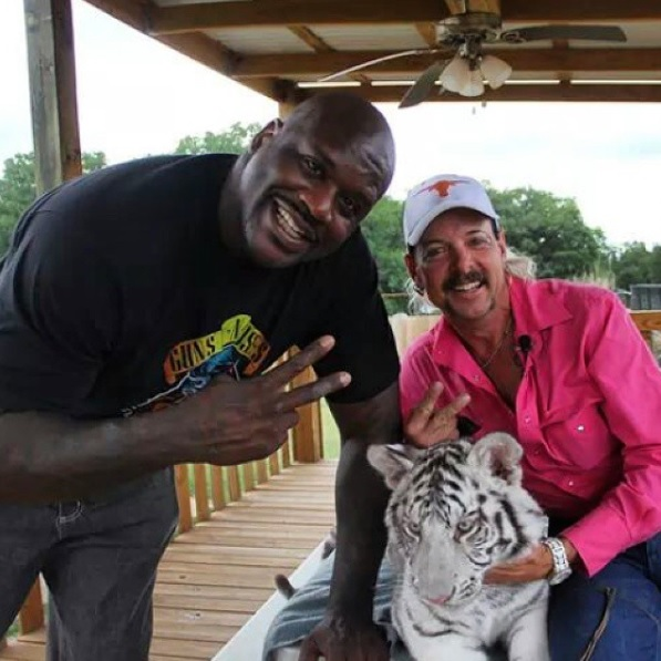 (L-R): Shaquille O'Neal and Joe Exotic.