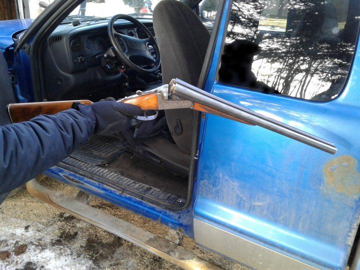 The Central Alberta District Crime Reduction Unit seize a loaded shotgun in Braeau County, Feb 26.