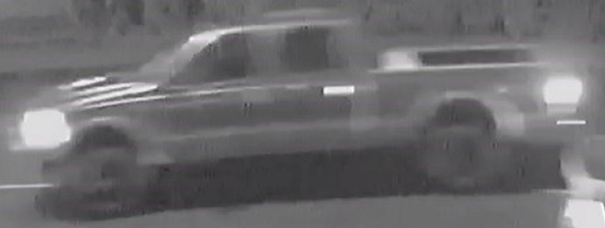 Police are looking for this truck in connection with a serious hit and run collision in Mission on Friday.
