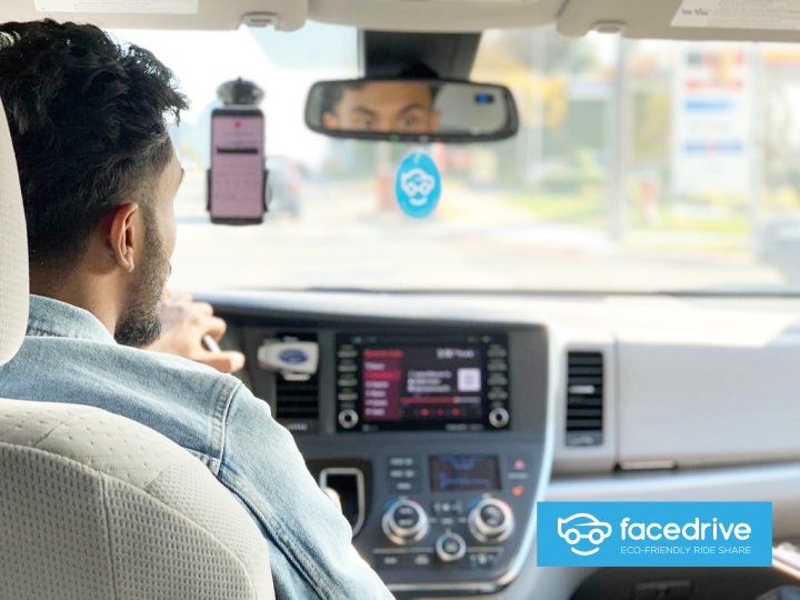 Facedrive is a Canadian company that allows passengers to request rides in electric, hybrid or gas-powered vehicles through an app.
