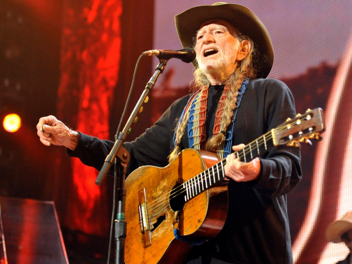 Willie Nelson performing live.