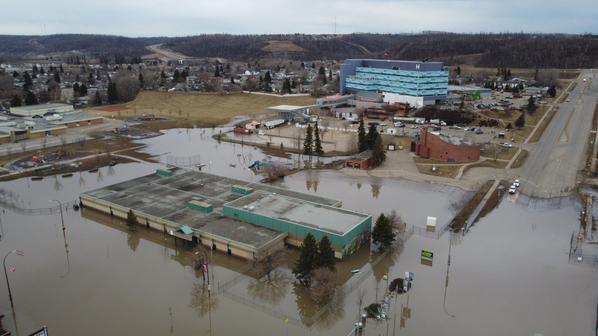 Flooding in Fort McMurray, Alta., Thursday, April 30, 2020.