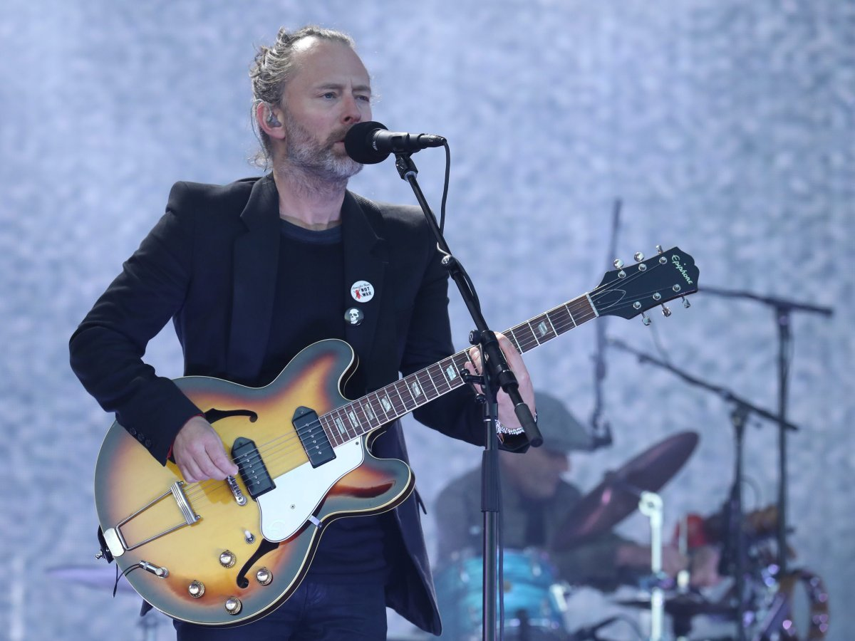 Thom Yorke from Radiohead performs on the main stage at TRNSMT festival in Glasgow.