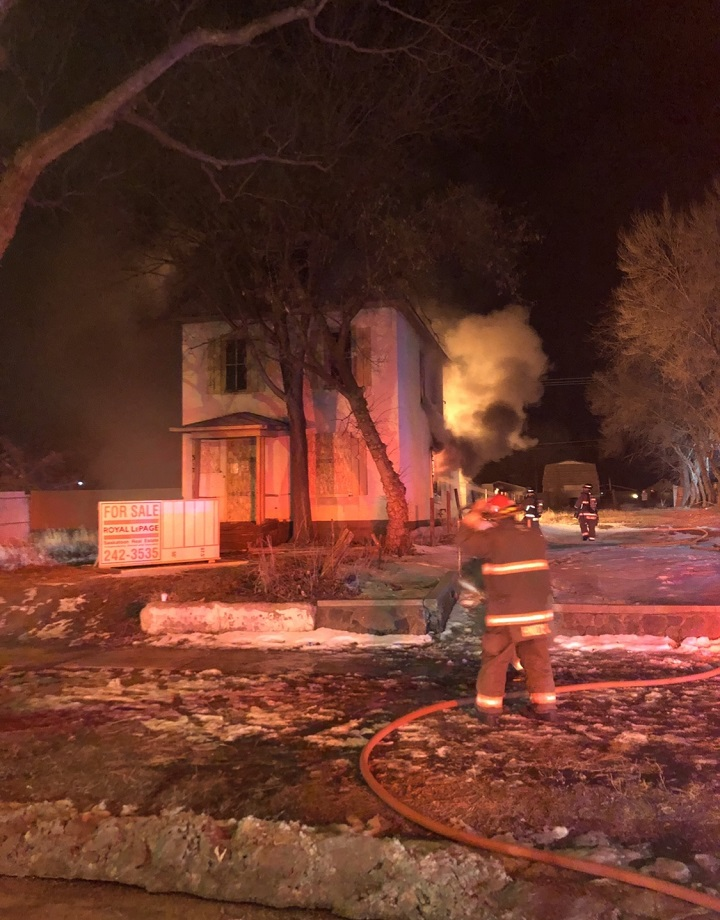 Saskatoon firefighters responded to the 300 block of Avenue P just after 11 p.m. on April 10 to find an abandoned home engulfed in flames.