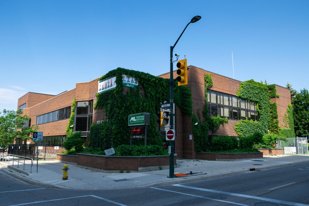 The former Middlesex-London Health Unit building at King and Ridout streets in London, Ont., June 2017.