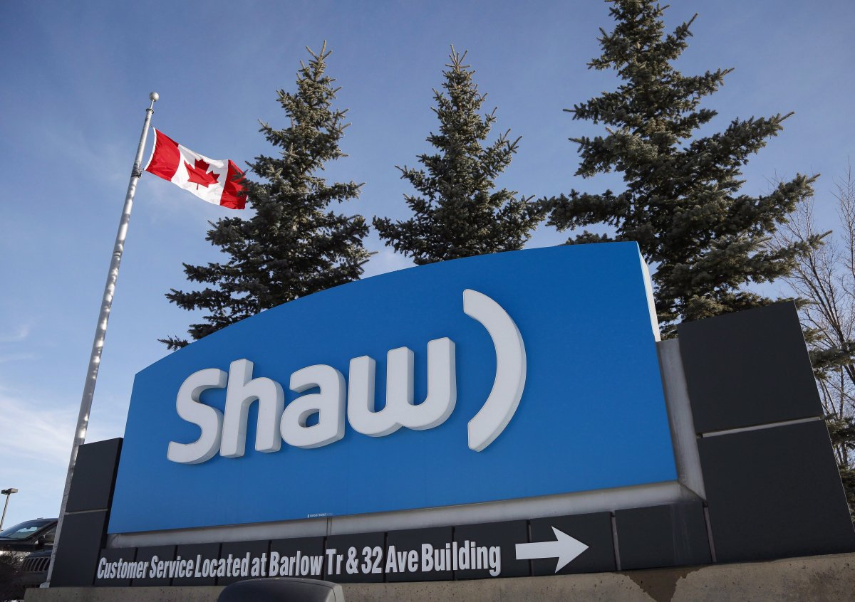 A Shaw Communications sign is shown at the company's headquarters in Calgary, Wednesday, Jan. 14, 2015.