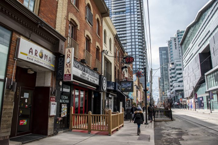 King Street West restaurants closed due to COVID-19 preventative measure in Toronto, Ont. on March 17, 2020.