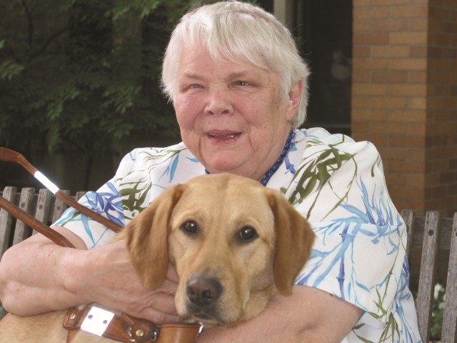 Canadian writer Jean Little, shown in this undated handout image, who changed the way kids of all abilities were represented in children's literature, has died. Pat de Vries, who shared a home with Little in Guelph, Ont., for 27 years, says her sister died in a hospice Monday at age 88.