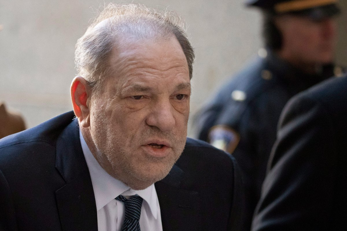 Harvey Weinstein arrives at a Manhattan court as jury deliberations continue in his rape trial in New York.