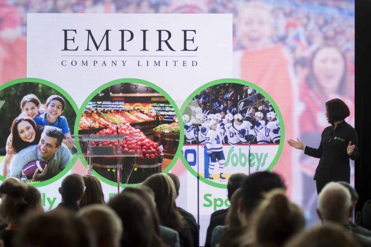Empire Company Limited announces their Olympic Partnership at their Sobey's office in Mississauga, Ont. on Monday, October 7, 2019. Empire Co. Ltd. is accelerating the launch of its online grocery home delivery service and expects to start tests in the Greater Toronto Area later this month.