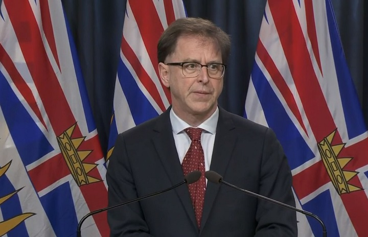 Provincial health minister Adrian Dix, seen here speaking during a daily update of COVID-19 statistics.