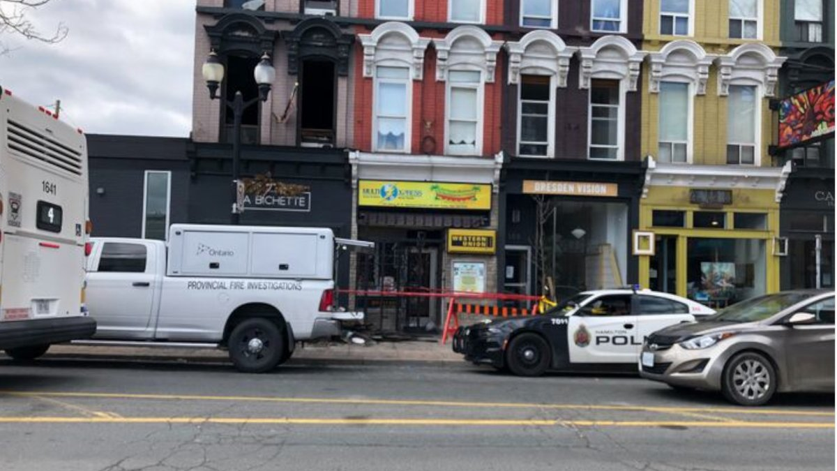 Police have charged a 32-year-old man with multiple counts of arson after he allegedly set several fires in downtown Hamilton on April 21, 2020. Grey Harbour Tattoo studio was destroyed in one of the blazes.