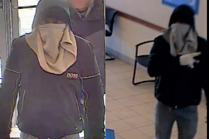 At approximately 2 p.m. on April 1, 2020, a man walked into the Bank of Montreal at 3690 Westwinds Dr. N.E. and demanded money while making threats, Calgary police say.