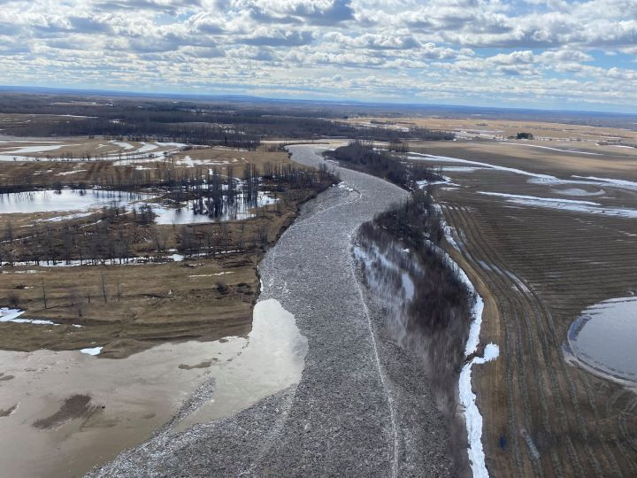 Officials in Big Lakes County said the area was continuing to experience heavy spring runoff conditions on Thursday.
