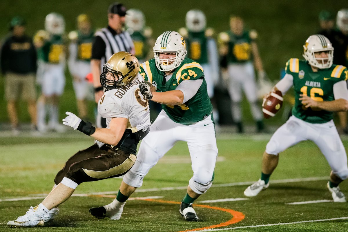 Alberta Golden Bears lineman Carter O'Donnell is looking ahead to both the NFL and CFL drafts.