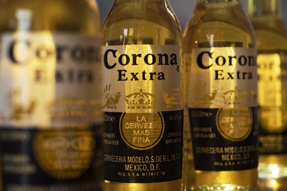 Bottles of Corona beer are shown in this Sept. 28, 2016 file photo.