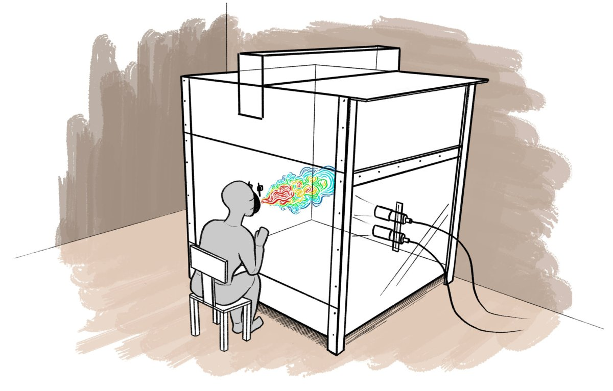 """Western University's """"cough chamber,"""" as illustrated by Frank Neufeld."""