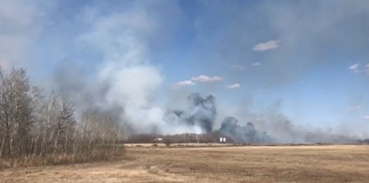 A submitted photo of a grass fire in Dalmeny.