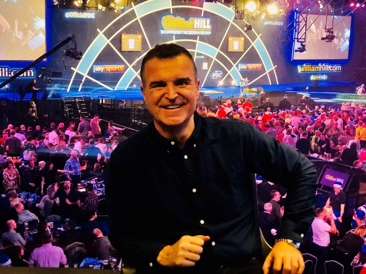 SKY TV Sports presenter Dave Clark.