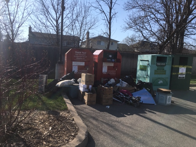 The City of Hamilton is removing donation bins, which have become a flashpoint for illegal dumping during the coronavirus pandemic.